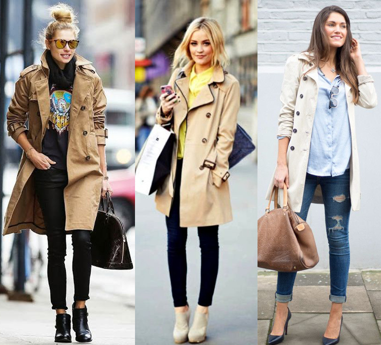 trench coat estiloso no inverno