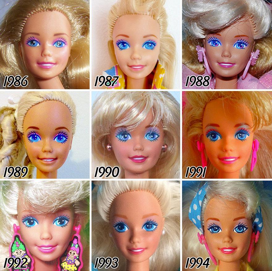 evolução da boneca barbie 4
