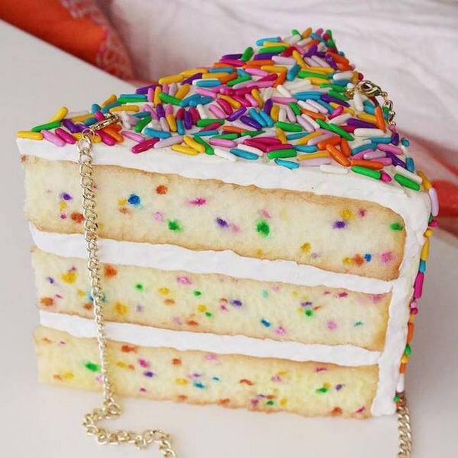 bolsa em formato de bolo