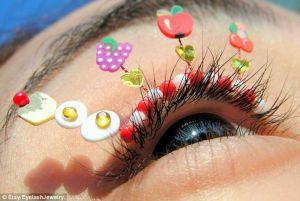 cílios divertidos para usar no carnaval