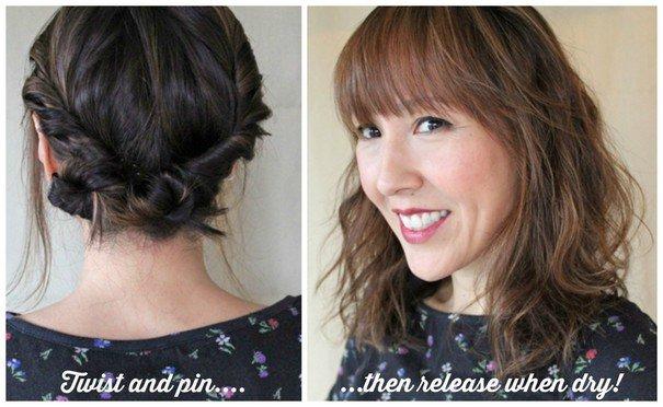 deixe os cabelos com um ondulado natural