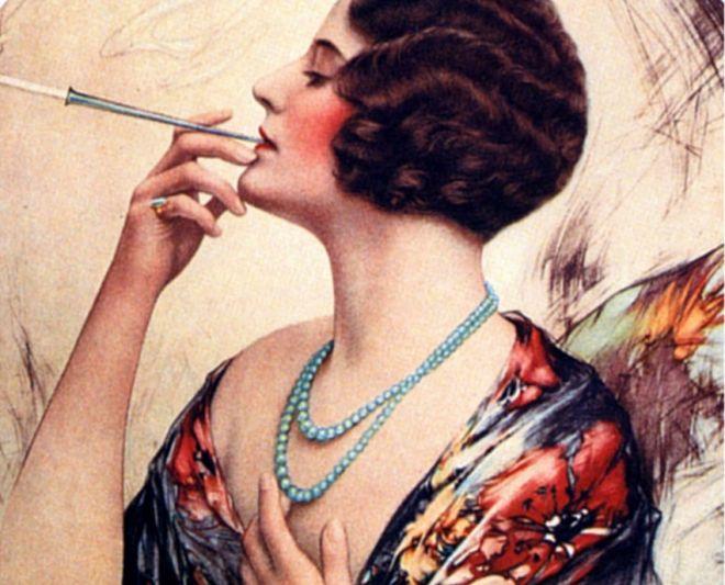 A propaganda do tabaco de 1920