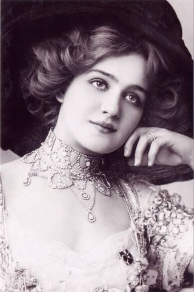 Atriz início do século 20 e cantor, Lily Elsie