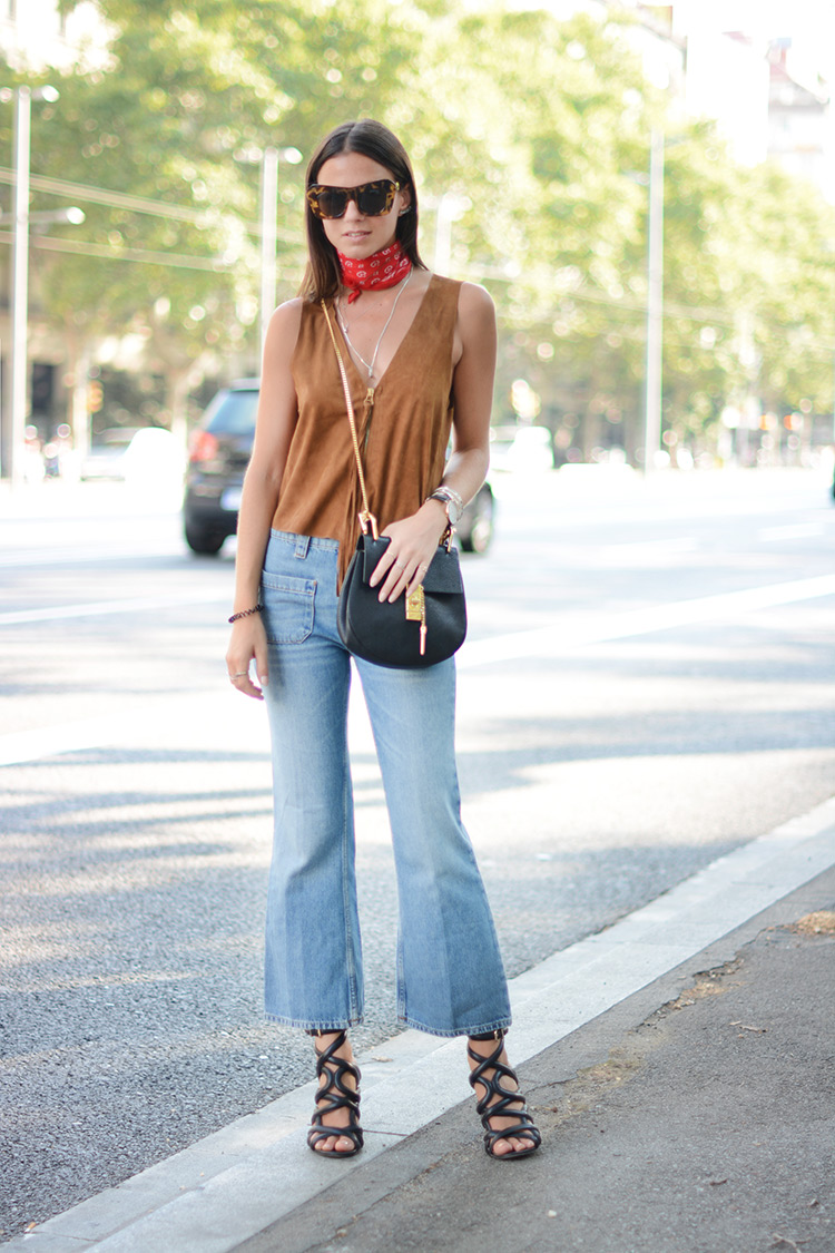 Cropped flare jeans como usar