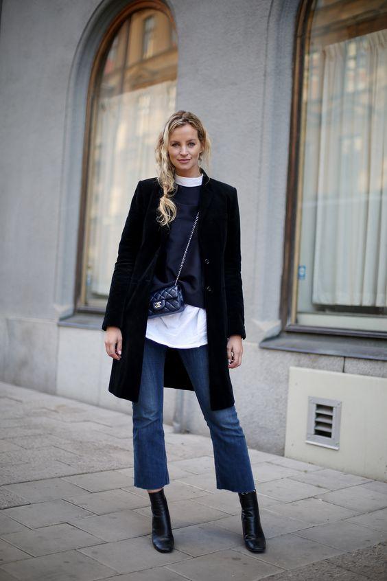 Cropped flare moda de rua