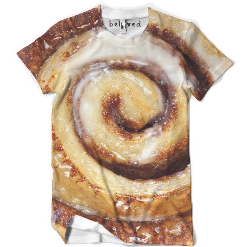 camisetas com estampas de comida