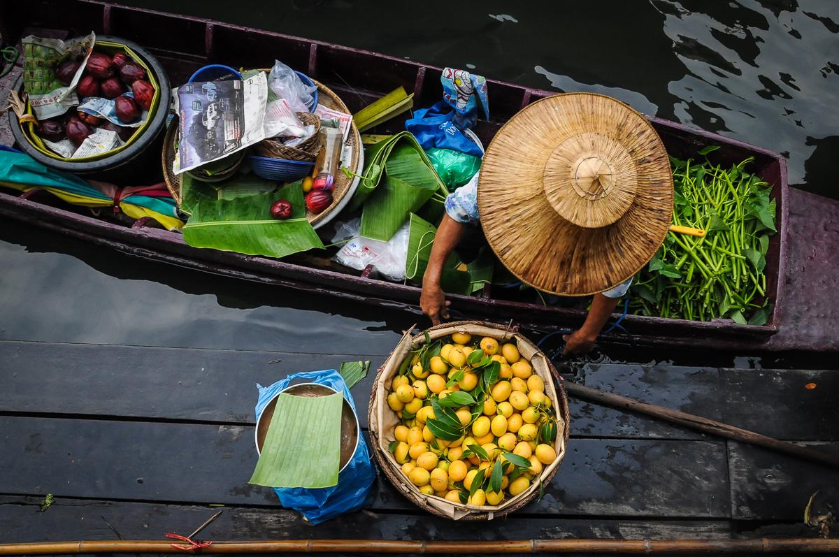 mercado Taling Chan na tailândia