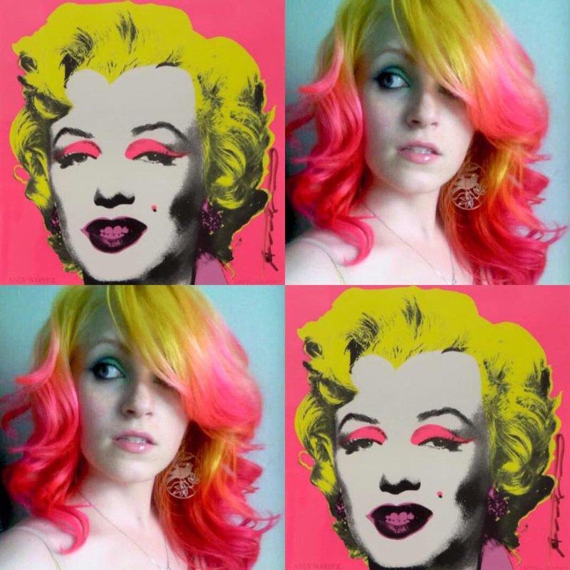 pop-art nos cabelos