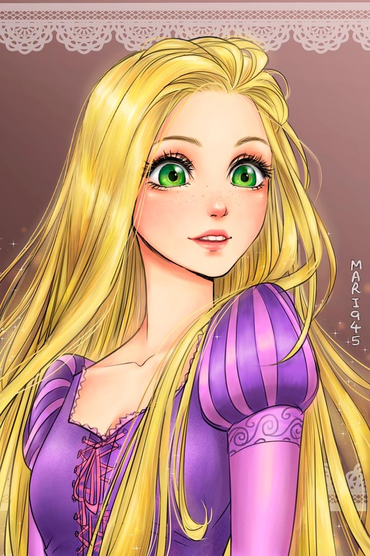 princesas da disney versão mangá 10