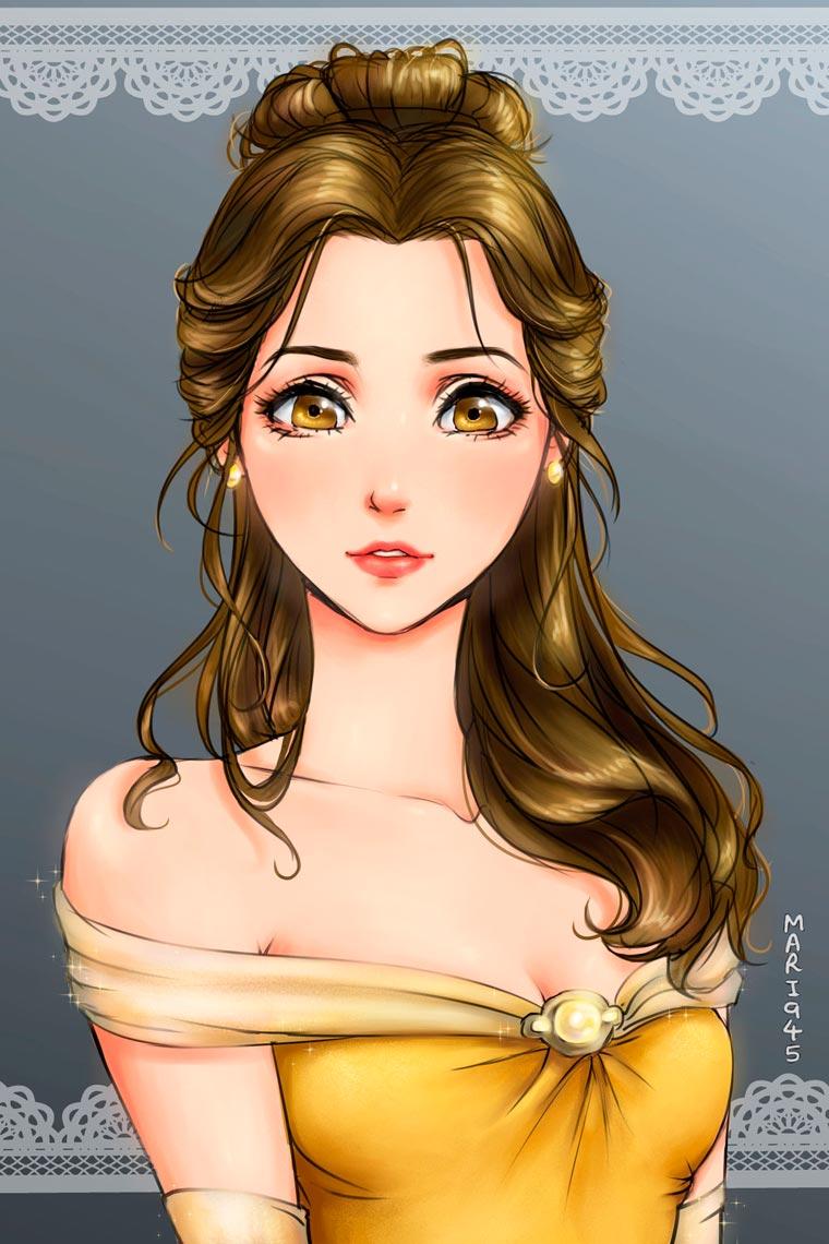 princesas da disney versão mangá 7