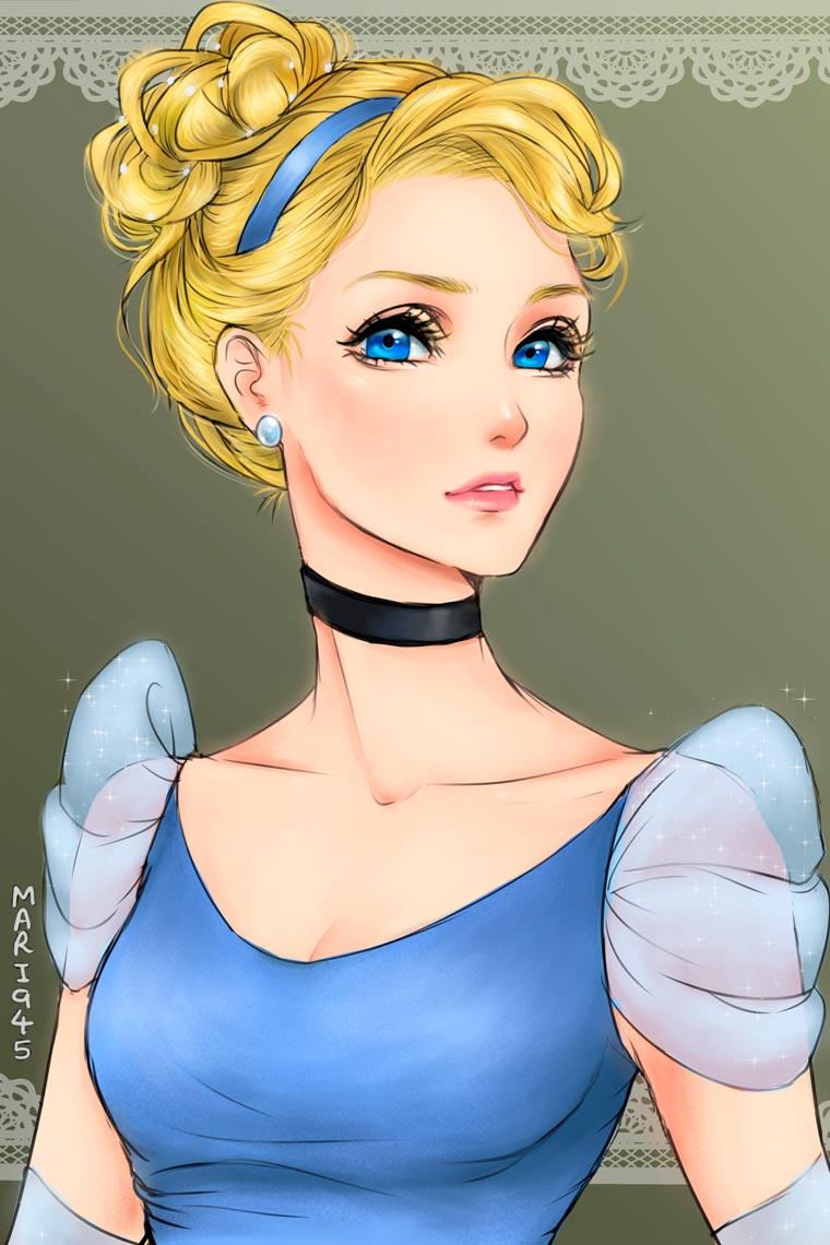princesas da disney versão mangá 8