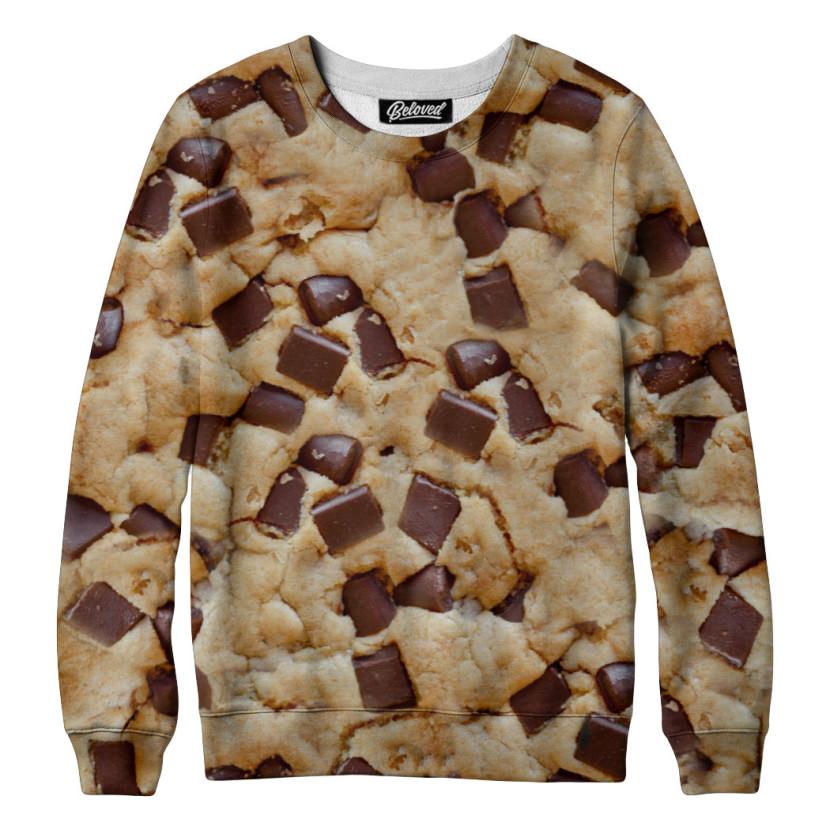 suéter com estampa de cookie