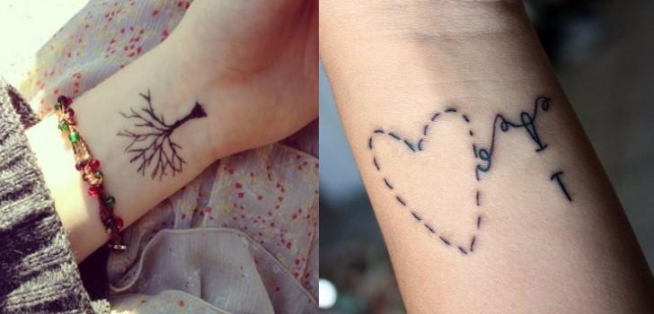 tatuagem delicada no pulso