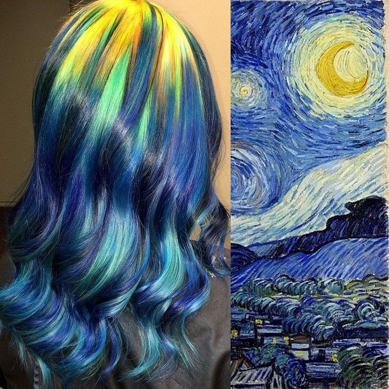 van-gohg cabelos coloridos