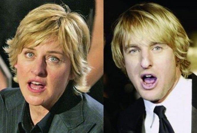 Ellen DeGeneres e Owen Wilson