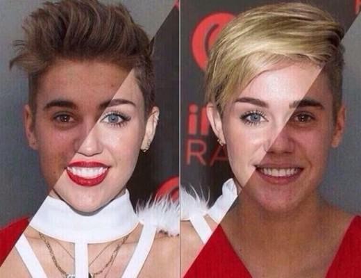 Justin Bieber e Miley Cyrus