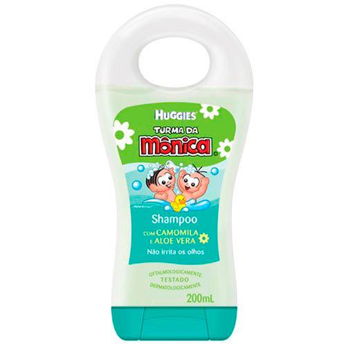 Shampoo e condicionador Huggies Turma da Mônica.