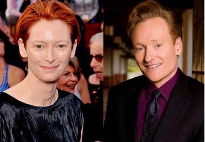 Tilda Swinton e Conan OBrien