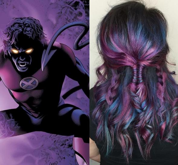 penteados de cabelos inspirados em super heróis e vilões 10