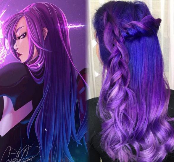 penteados de cabelos inspirados em super heróis e vilões 12
