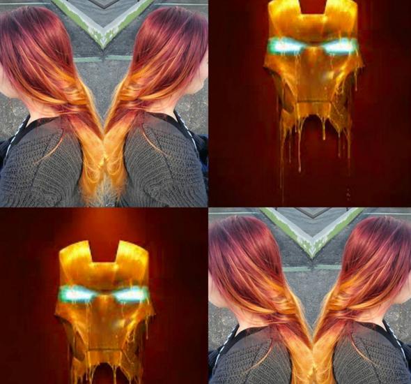 penteados de cabelos inspirados em super heróis e vilões 2