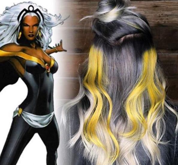 penteados de cabelos inspirados em super heróis e vilões 3