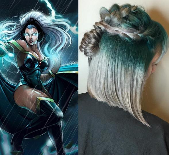 penteados de cabelos inspirados em super heróis e vilões 9