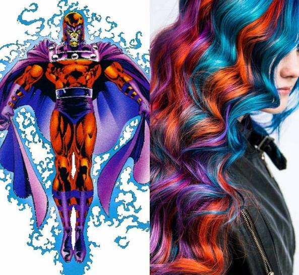 penteados de cabelos inspirados em super heróis e vilões