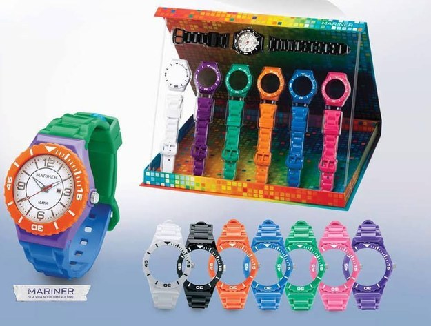 tendência de moda anos 90 relógio Technos Mariner Multicolor