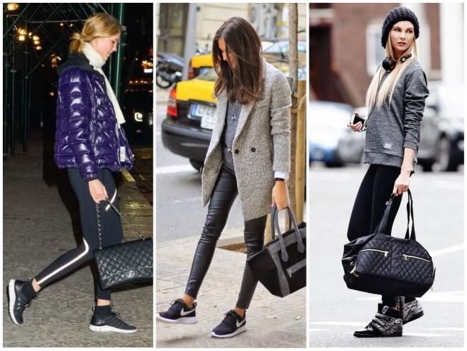 Athleisure moda que mistura roupas de academia no dia a dia