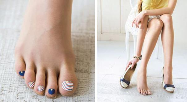 Marca japonesa lança meia-calça para quem tem preguiça de pintar as unhas dos pés 4