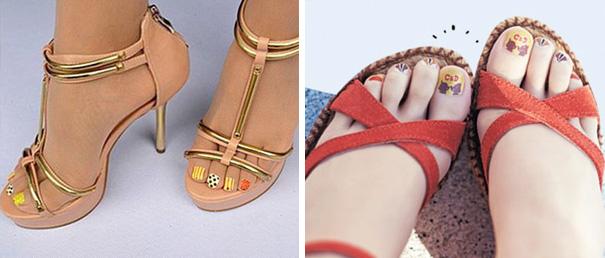 Marca japonesa lança meia-calça para quem tem preguiça de pintar as unhas dos pés 6