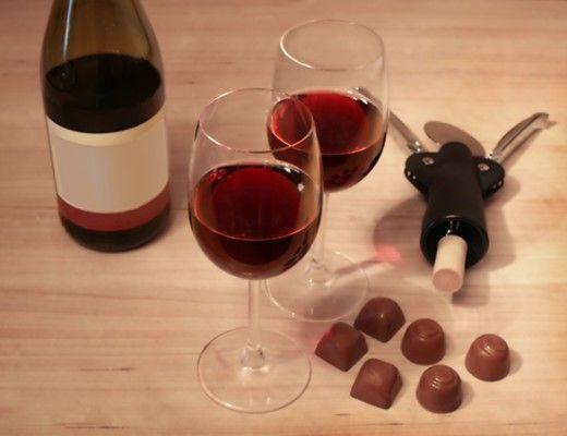 emagreça com vinho e chocolate