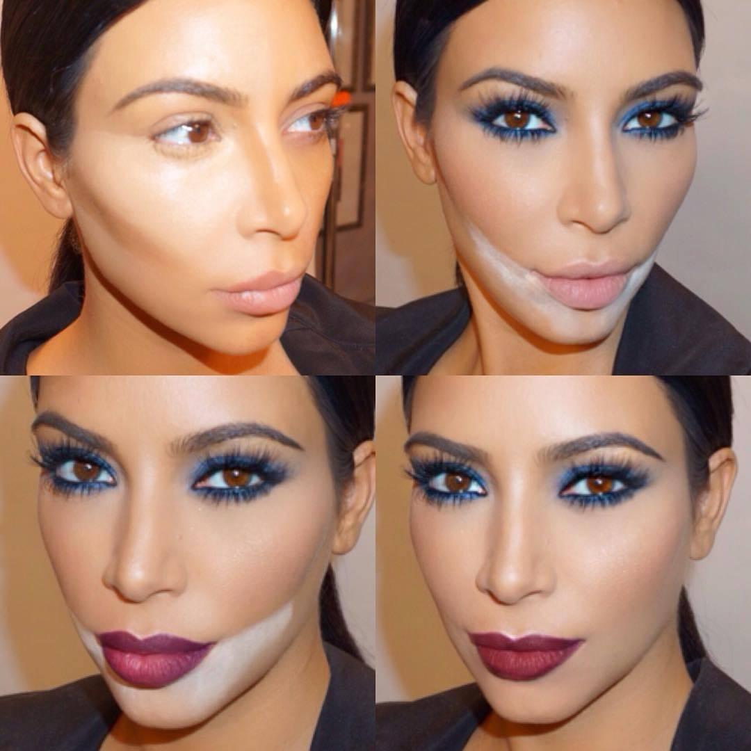 kim-kardashian Sandbagging nova técnica de maquiagem que diminui a oleosidade da pele