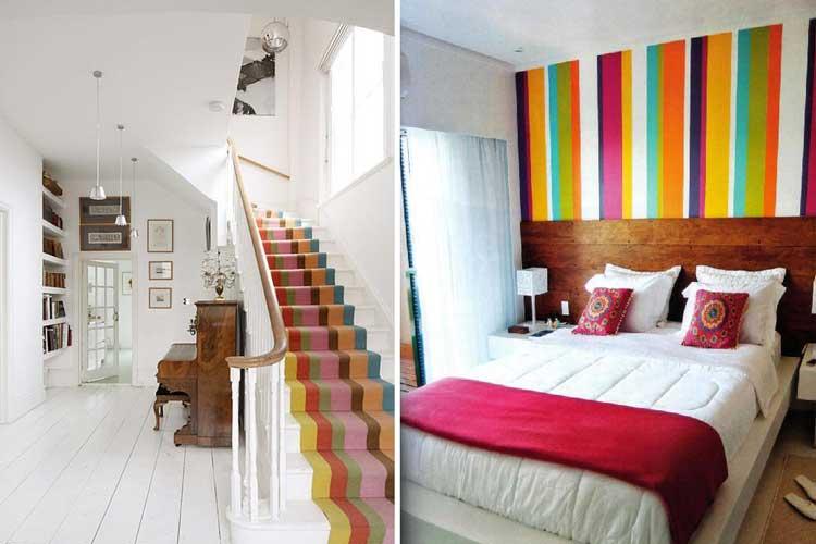 listras-coloridas-decoração-casa
