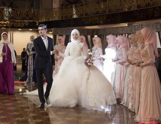 vestido de casamento na Chechênia