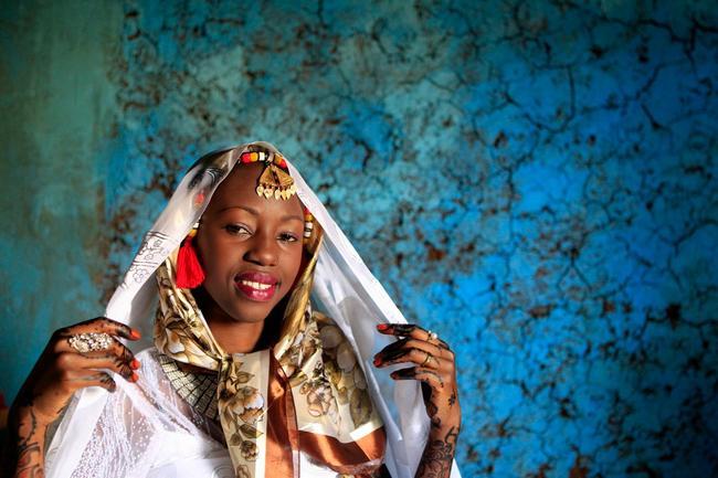 vestido de casamento na Núbia