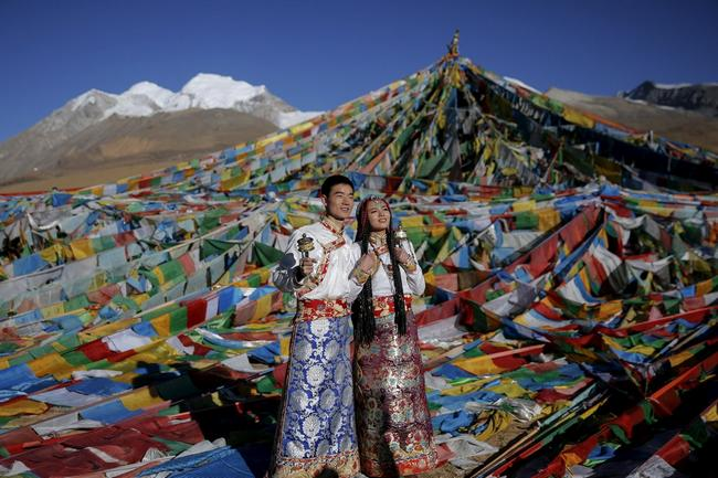 vestido de casamento no tibete