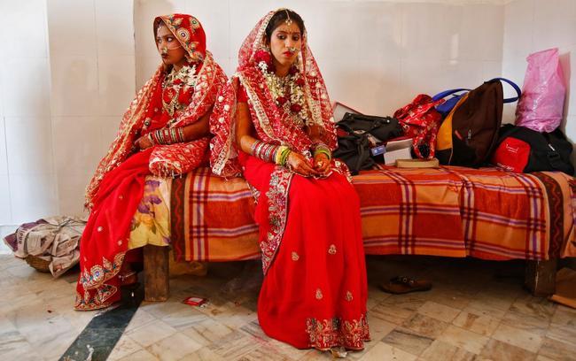 vestido de noiva na índia