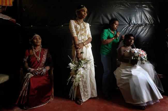 vestido de noiva no Sri Lanka