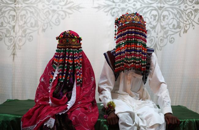 vestidos de noivas no Paquistão