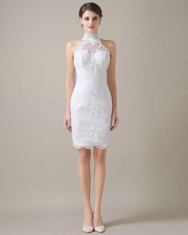Vestido noiva curto simples