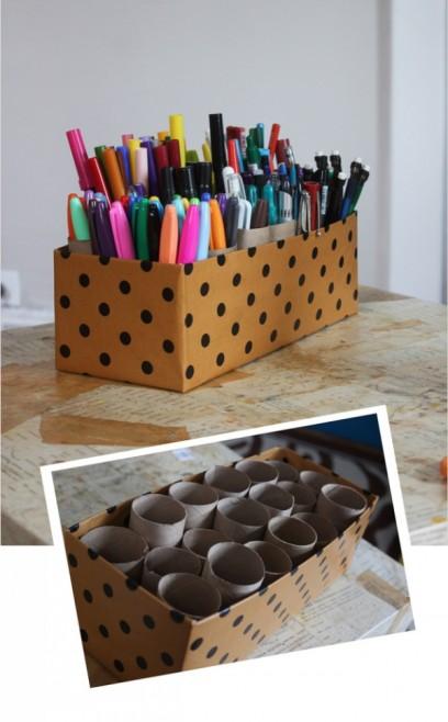 como guardar canetas de uma forma linda e criativa