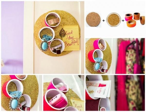 como organizar cosméticos e bijuterias