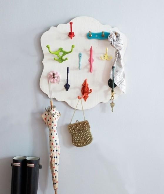 ideia de decoração para pendurar coisas