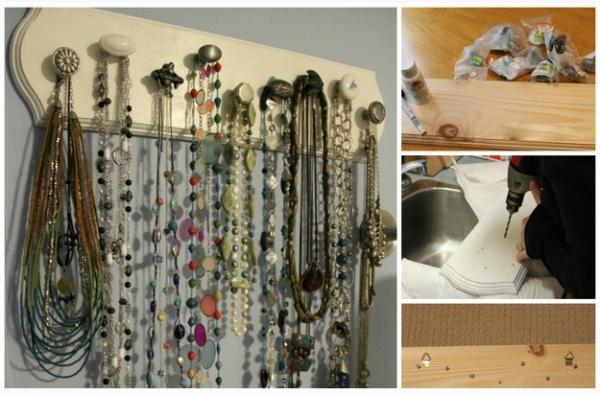 ideias de organização para guardar colares