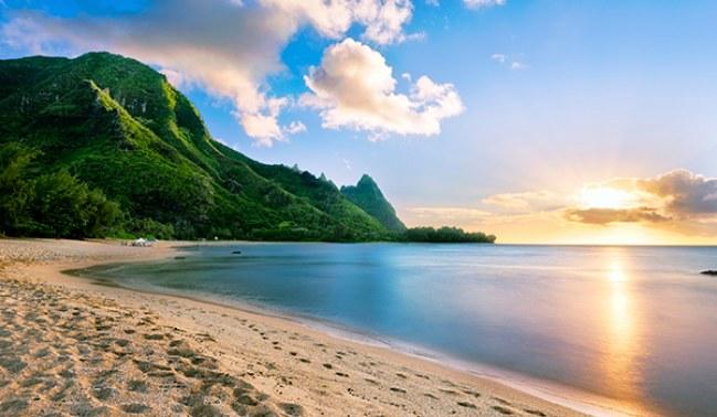 por do sol em Kauai, Havaí