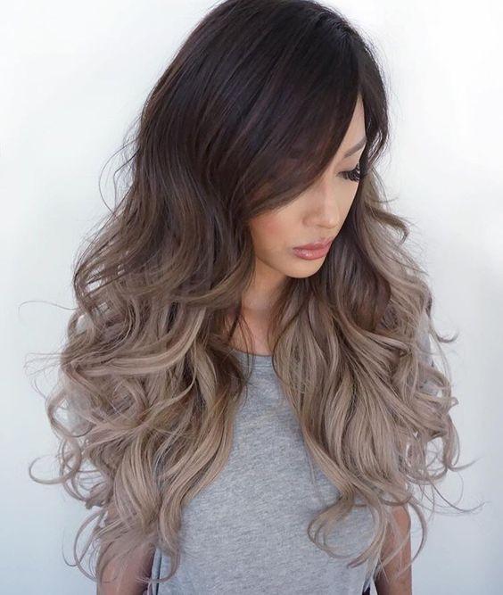 cabelo ombre hair em tons de cinza