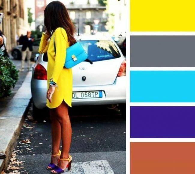 como combinar cores com amarelo