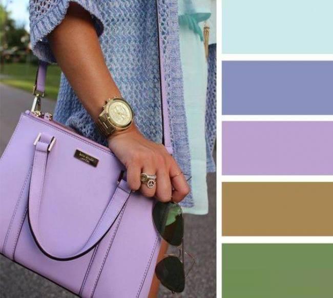 como combinar cores com lilas